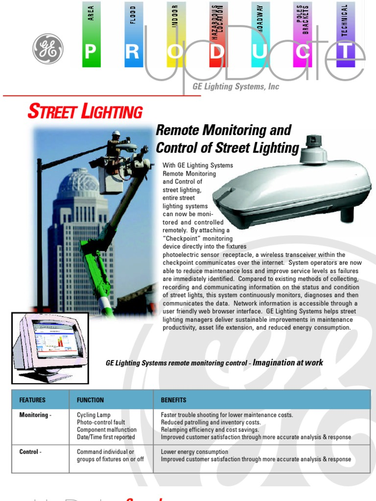 Ge Street Lighting Remote Monitoring And Control Of
