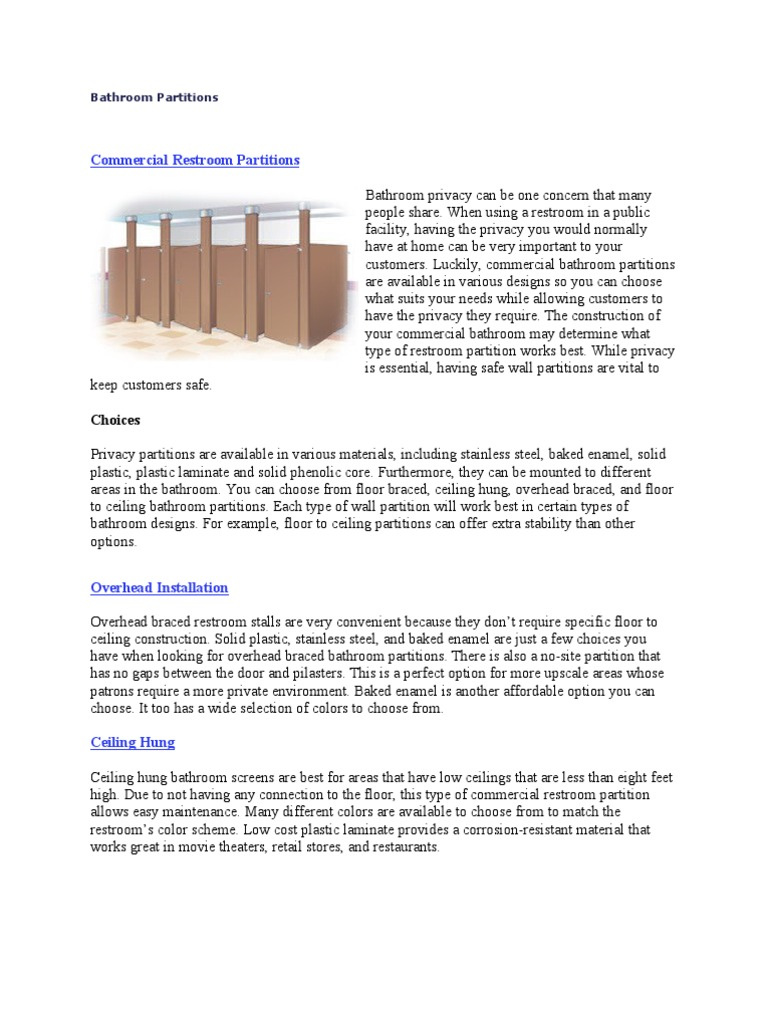 Bathroom Partitions Miami Fl bathroom partitions - docshare.tips