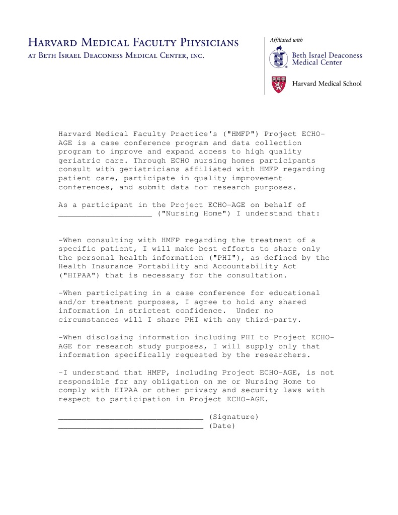 Confidentiality Agreement Protected Health Information Docshare