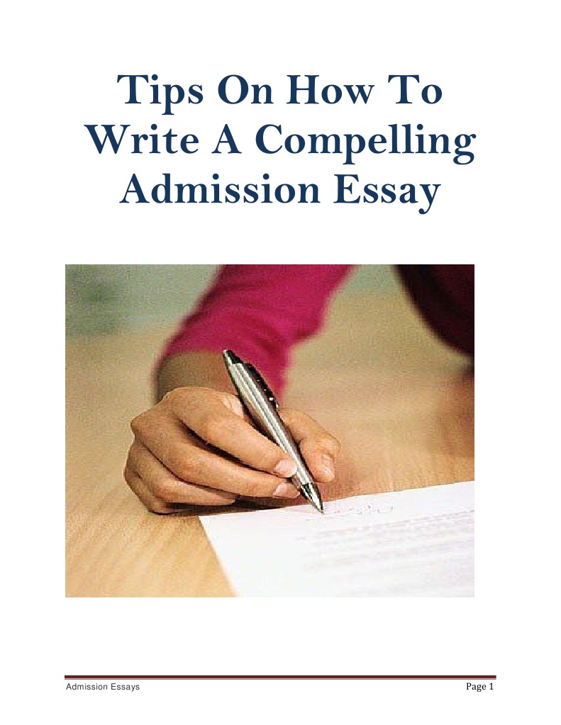 How To Write An College Application Essay