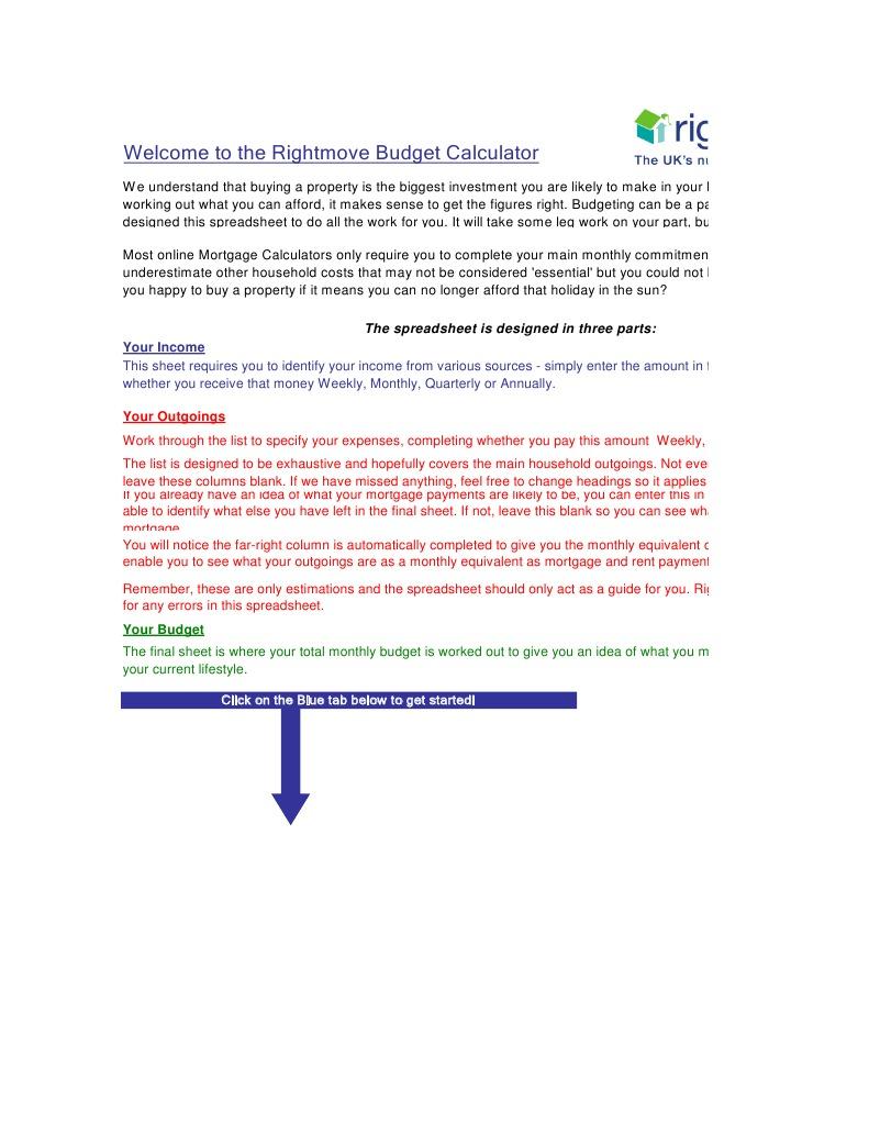 budget calculator docshare tips