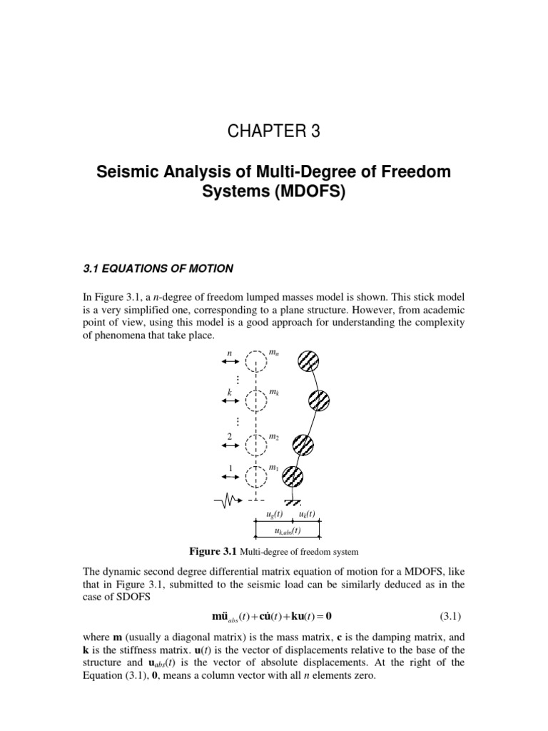 Download 3 Seismic Analysis of Multi-Degree of Freedom