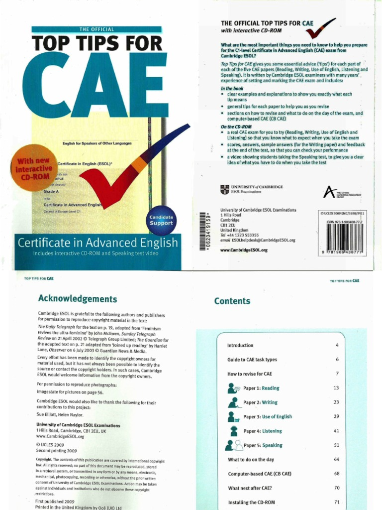 cae top tips Introduction what you write for a book entry is very similar to an article so: • there should be a title • it should include section headings.