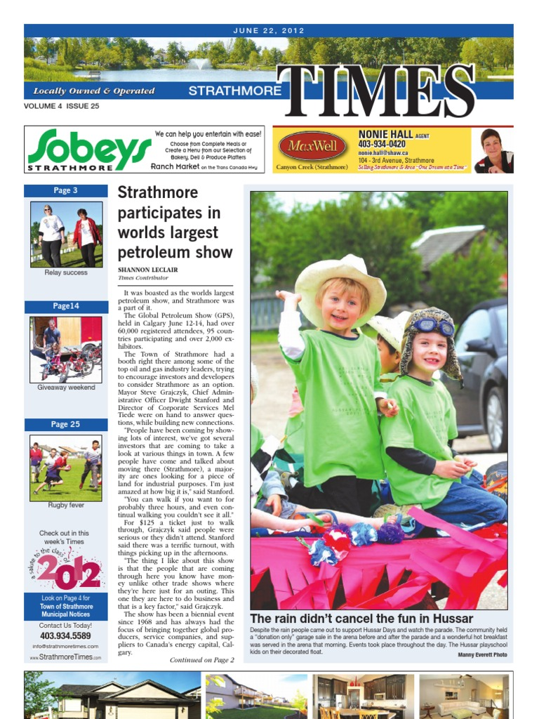 June 22, 2012 Strathmore Times - DocShare tips