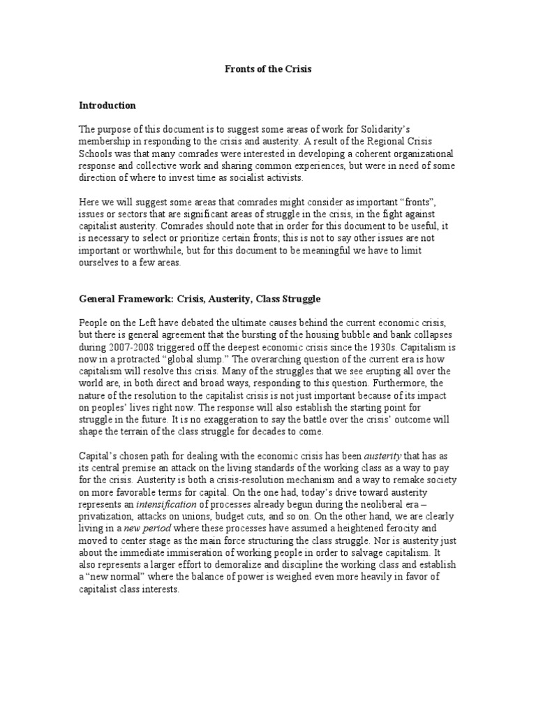 current banking crisis essay