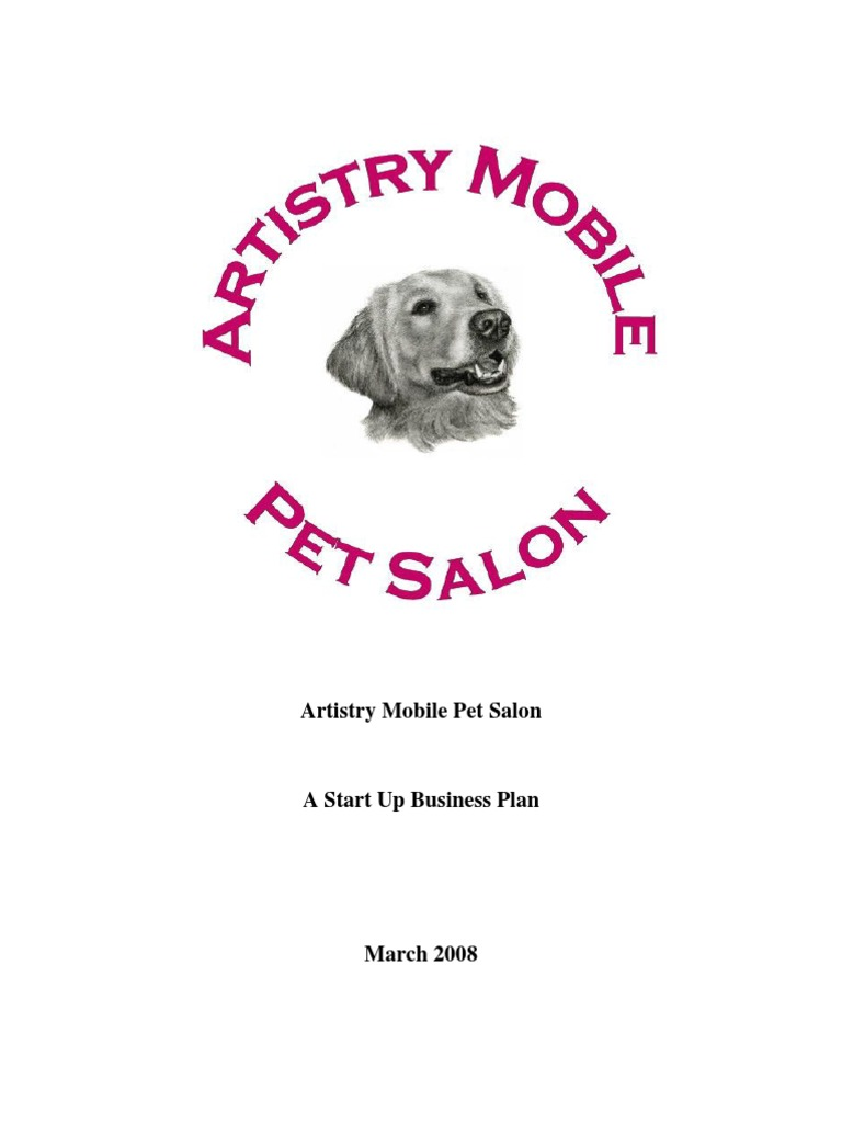 mobile pet grooming business plan
