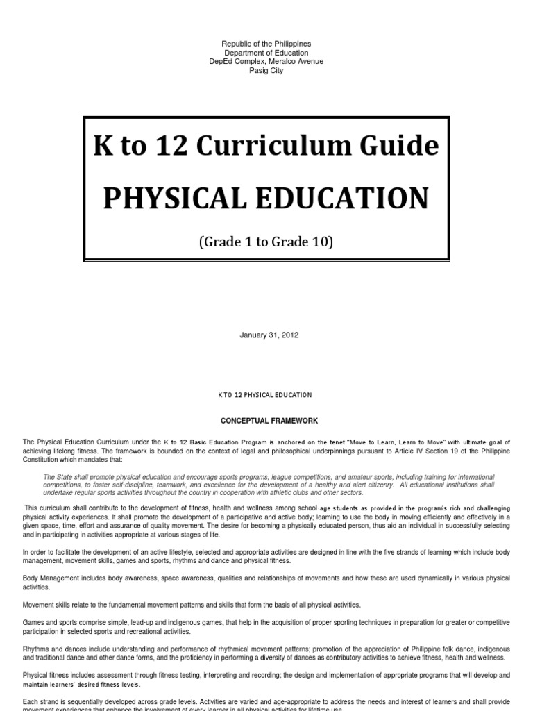 Download Physical Education-k to 12 Curriculum Guide - Grade 7 ...