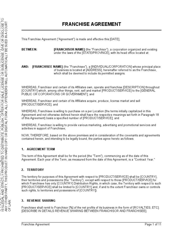 Download Form of Baskin-Robbins Franchise Agreement - DocShare.tips