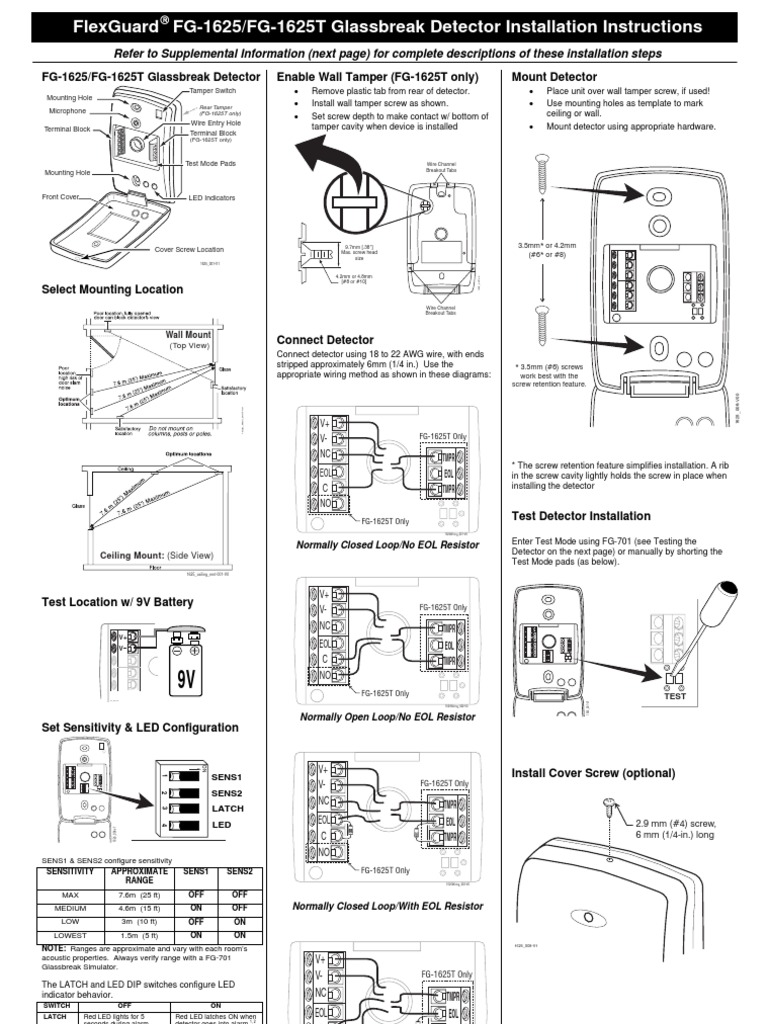 Honeywell Fg1625 Install Guide Tamper Wiring Diagram For