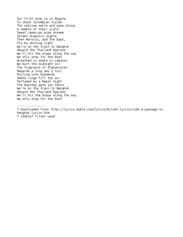 Lyric passage to bangkok lyrics : Download Passage 09 - DocShare.tips