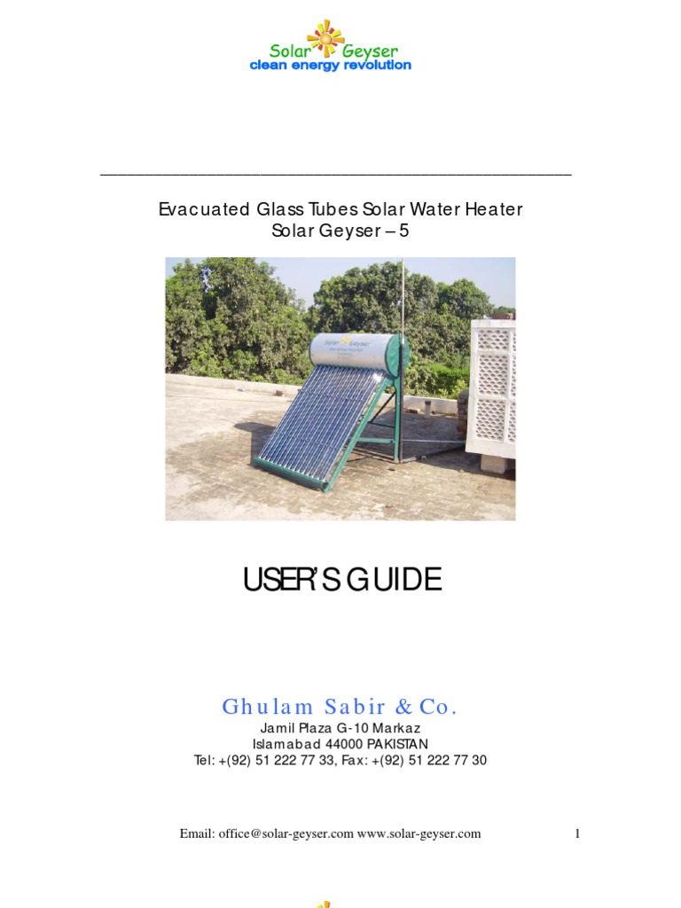 Download Solar Geyser Installation Manual Panel Diagram