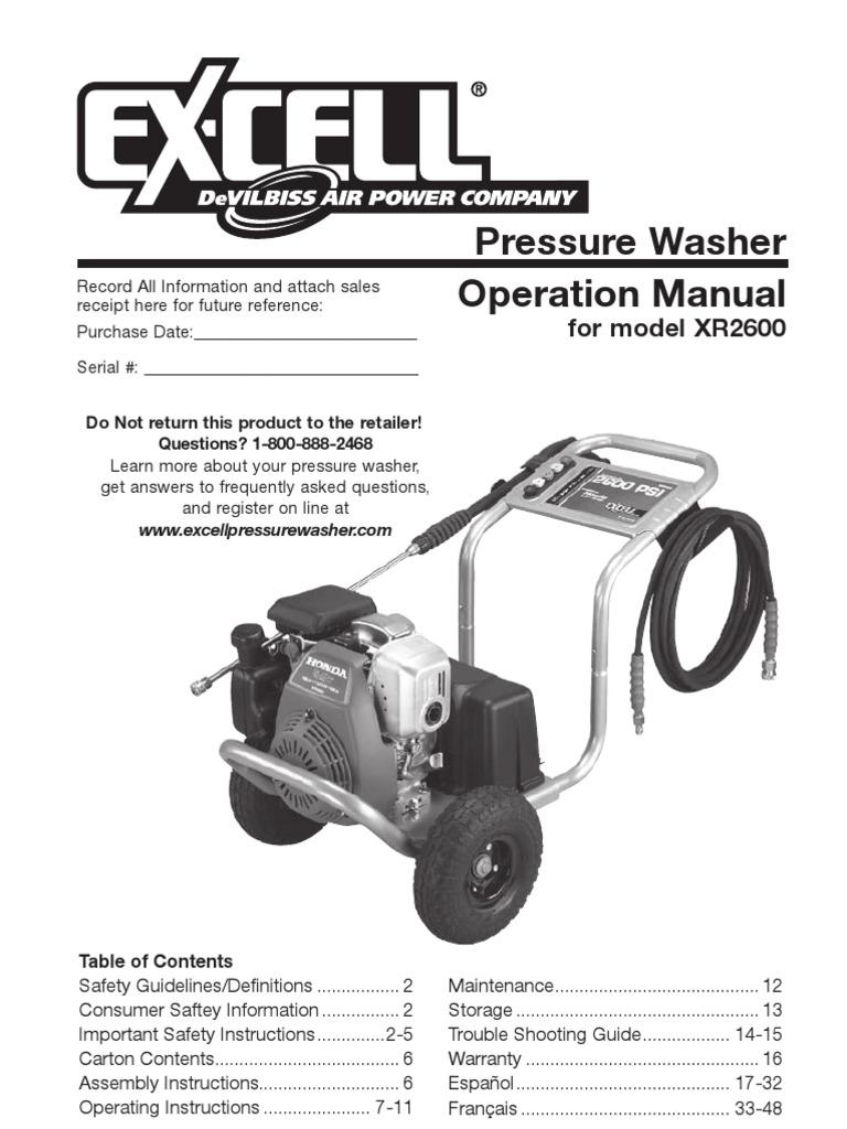 devilbiss pressure washer manual sevenstonesinc com rh sevenstonesinc com Honda Xr2600 Pump honda xr2600 engine owner's manual