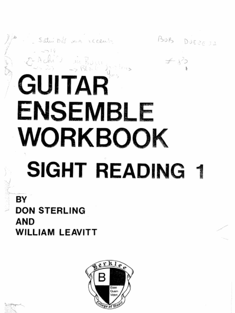 Workbooks guitar fretboard workbook pdf : Download Sight Reading Mastery for Bass Guitar Exercises ...
