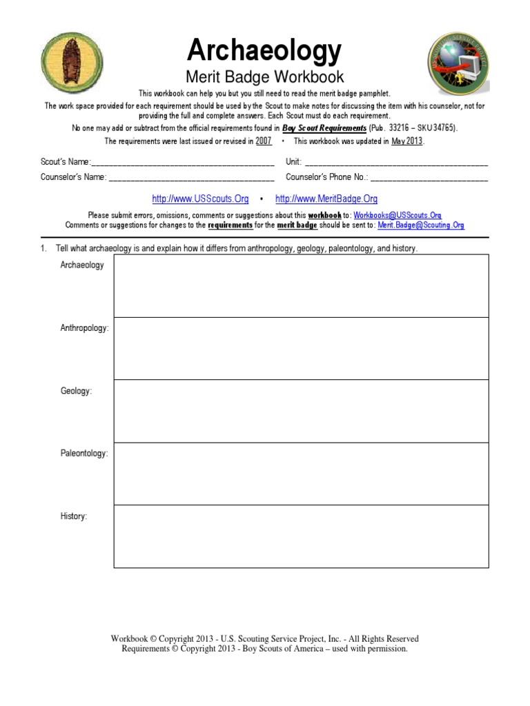 Workbooks usscouts org merit badge worksheets : Download Deepwater Archaeology - DocShare.tips
