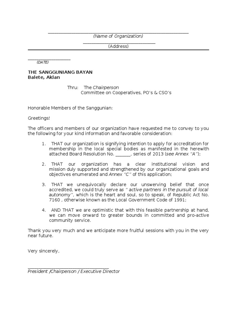 Letter Of Intent For Accreditation Docshare Tips  Loi Letter Sample