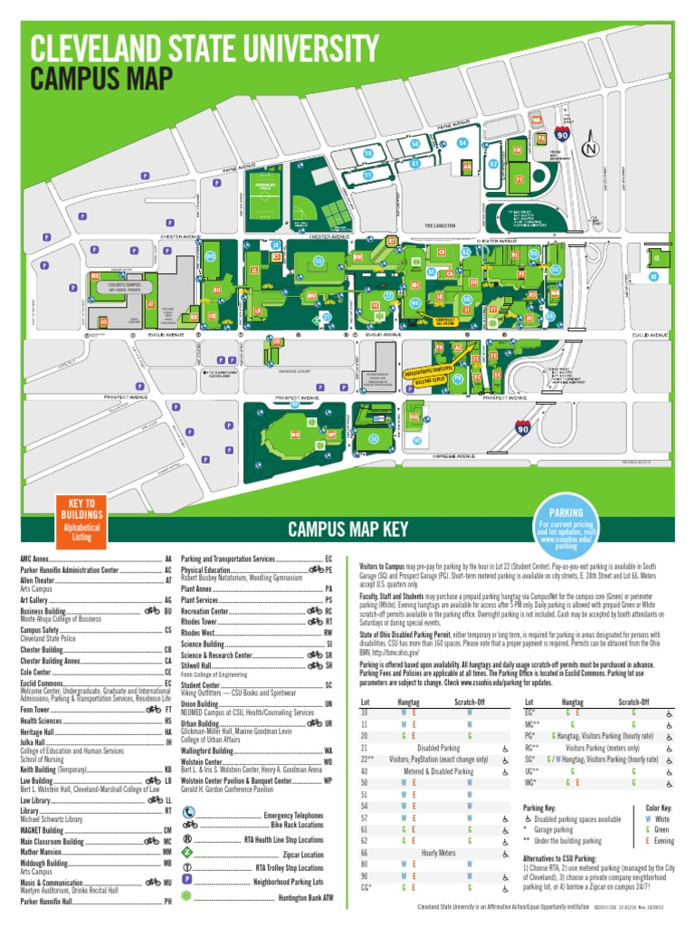 Cleveland State University Campus Map Campus Map   DocShare.tips