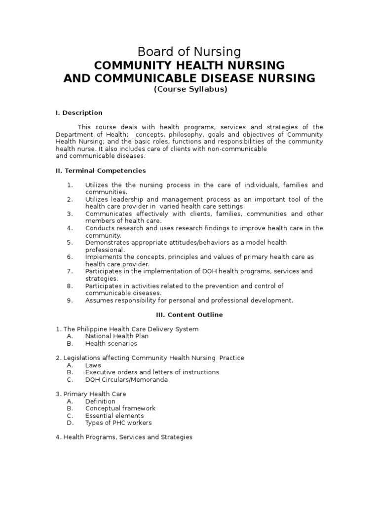 Community health nursing book in the philippines
