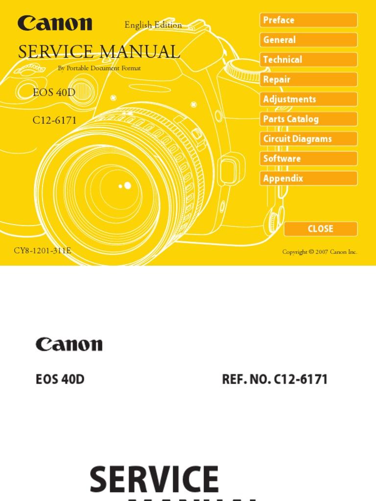 Canon 350d Repair service manual