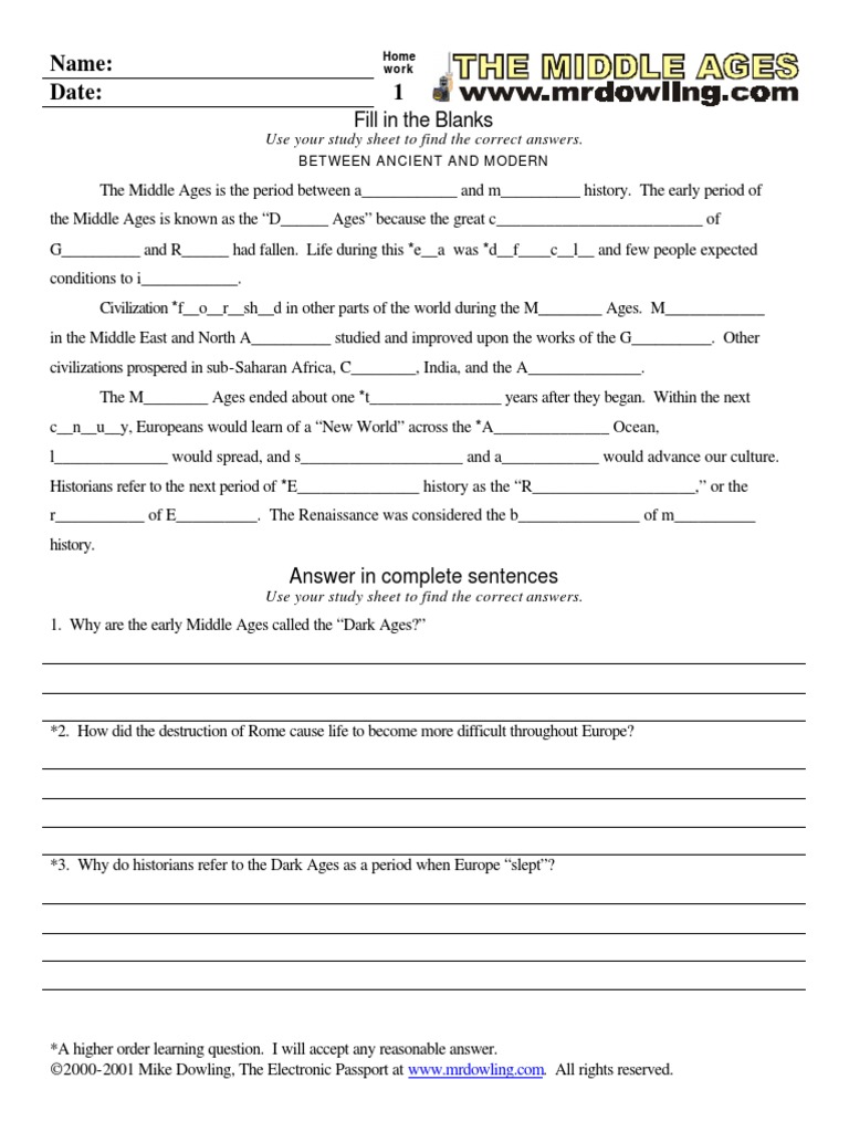 Middle Worksheet for a high school class - DocShare.tips