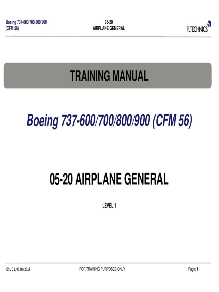 Boeing 737 800 Operating manual Pdf
