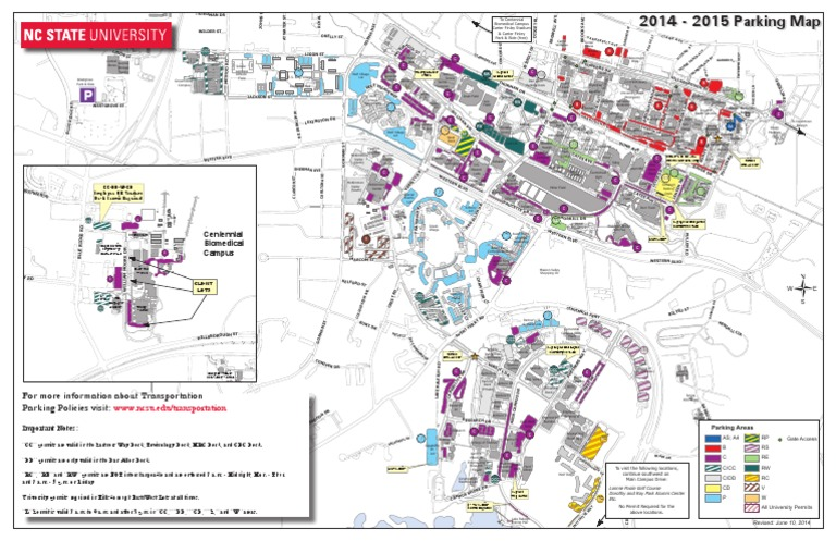 Ncsu Parking Map Download NCSU Parking Map (2014 2015)   DocShare.tips