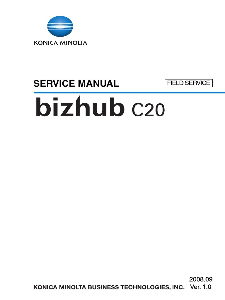 Konica C6500 Service manual
