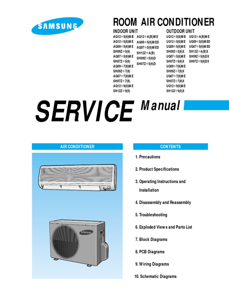Lg Split System Air Conditioner Service Manual Sante Blog Ac Wiring Diagram Samsung