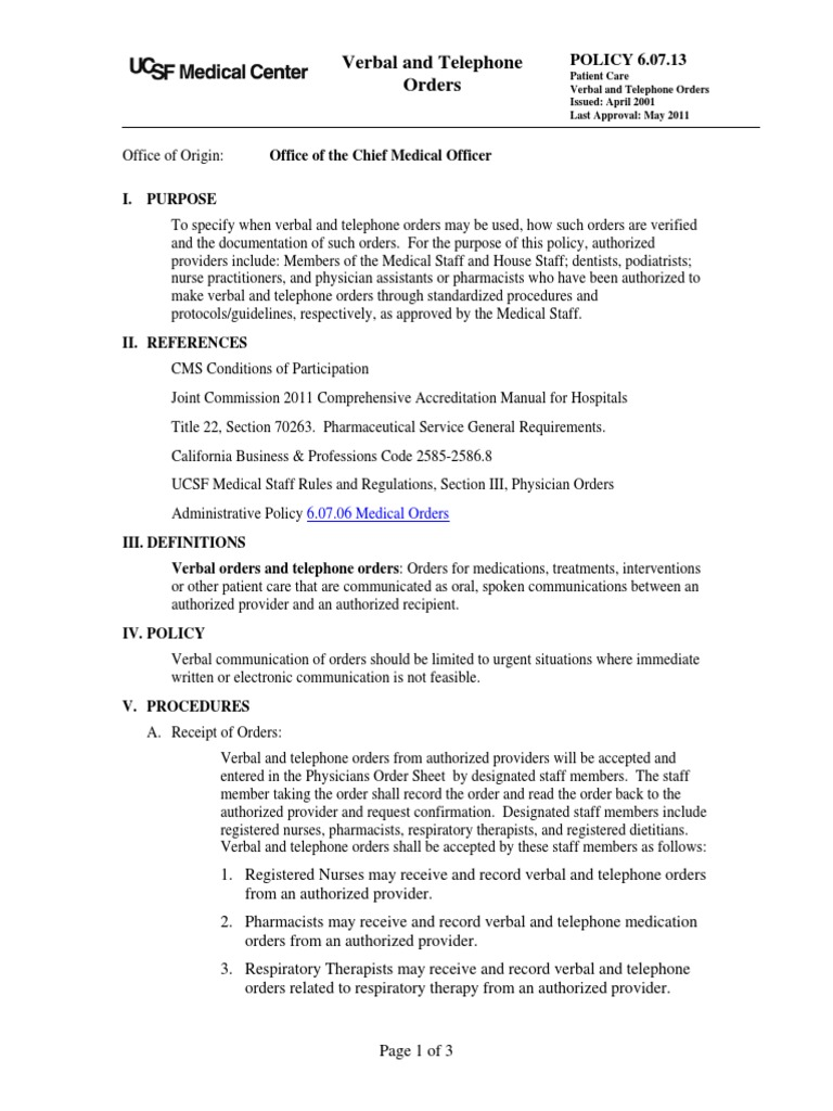 Workbooks tprh verbal workbook : Download Verbal and Telephone Orders 2011 - DocShare.tips