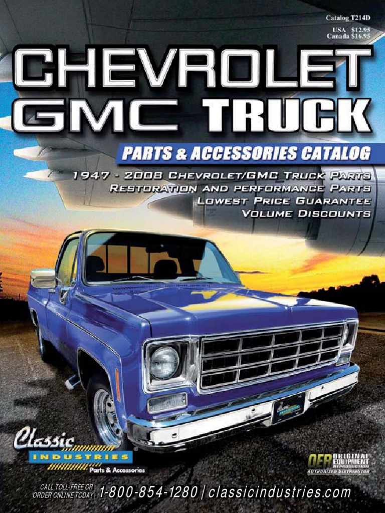 Chevy Gmc Truck Parts Catalog Classic Industries Inba Info