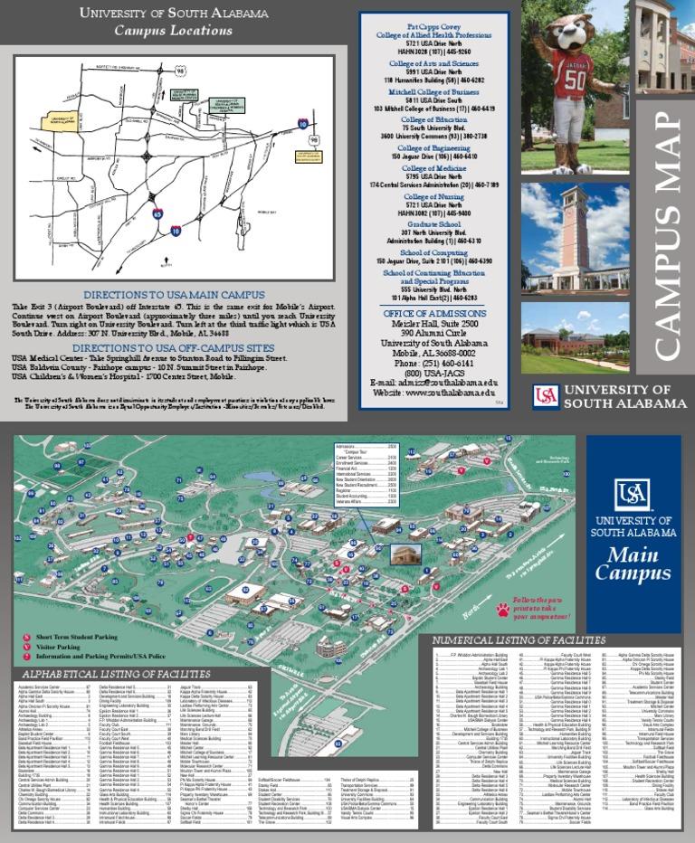 South Alabama Campus Map Campus Map Alabama   DocShare.tips