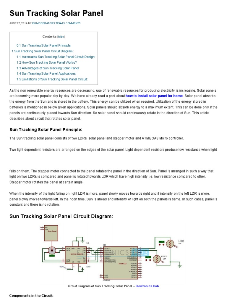 Download Mini Project On Microcontroller Based Automatic Bell Using Circuit Diagram Sun Tracking Solar Panel