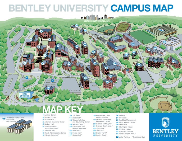 Bentley University Campus Map Download Bentley Color Map   DocShare.tips