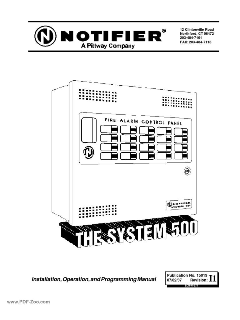 Notifier System 500 install Manual
