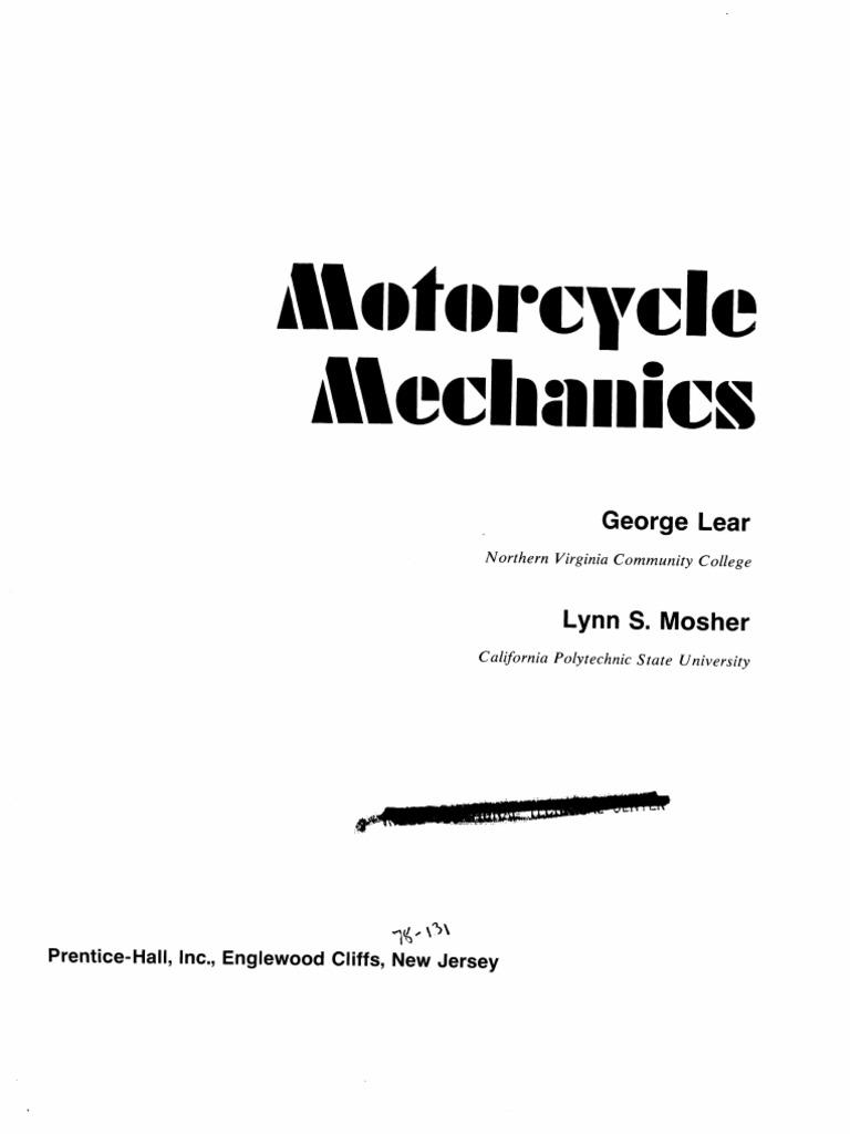 Motorcycle Mechanics General Manual Pdf Docshare Tips
