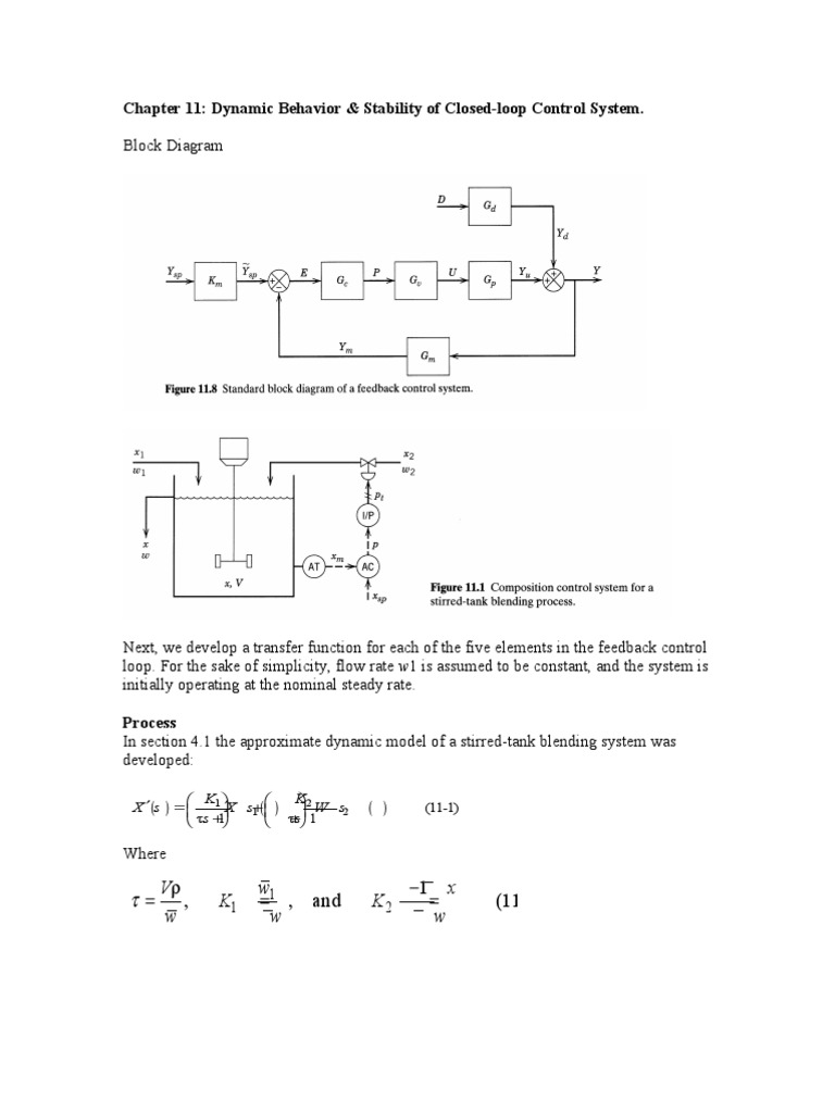 Block Diagram For Closed Loop Control System Download Power Stability And Ch11 Dynamic Behavior Of
