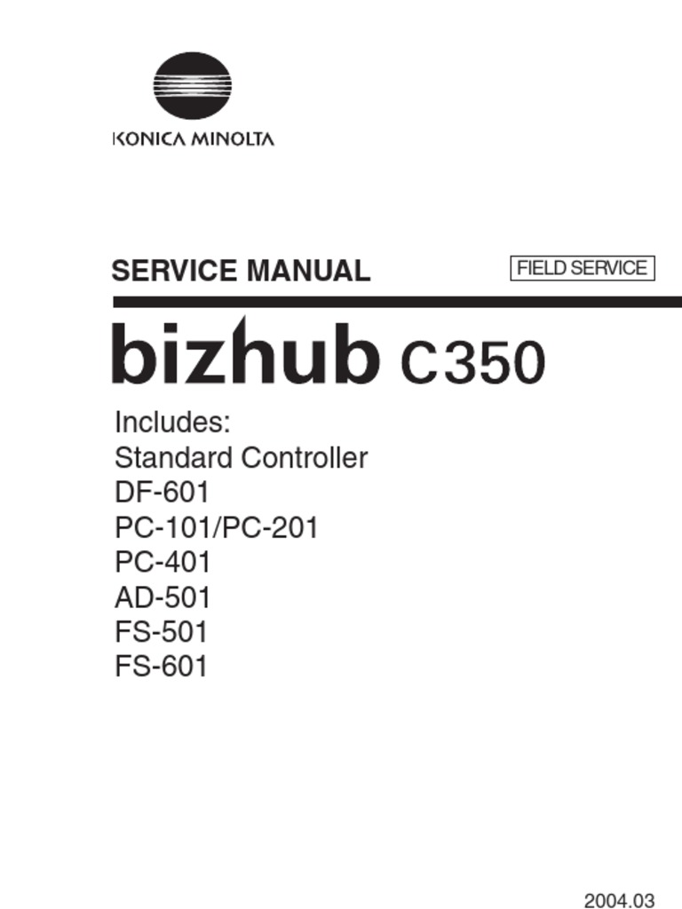 Service Manual bizhub c353