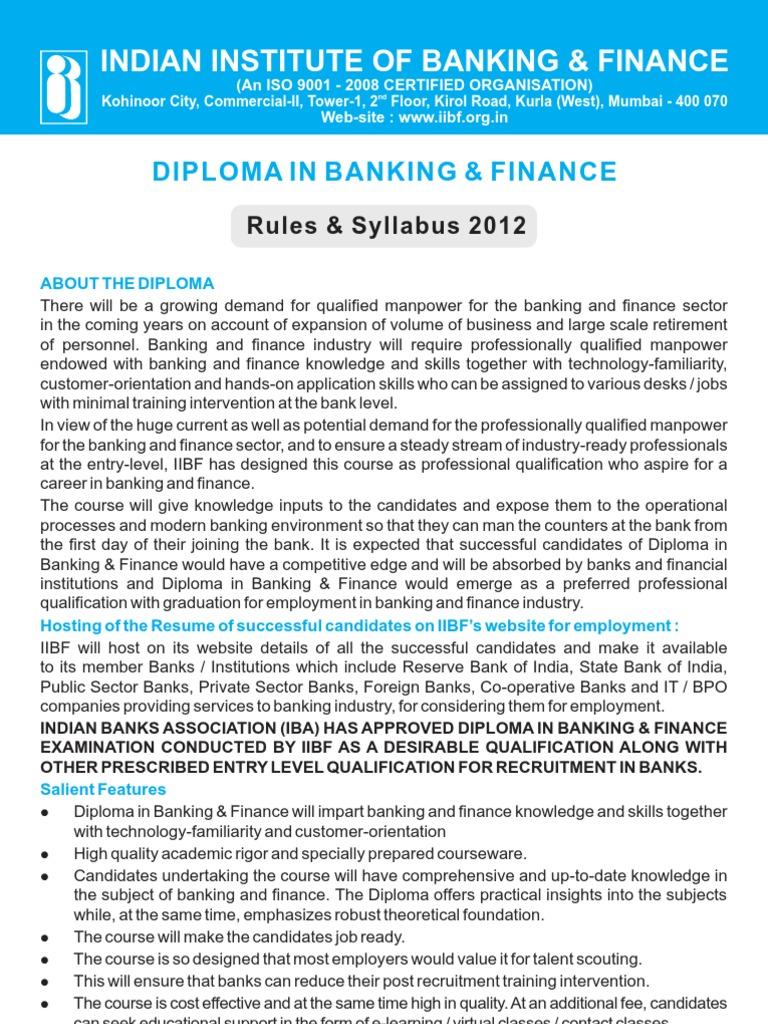 Workbooks jaiib workbook : Diploma in Banking & Finance - Iibf - DocShare.tips